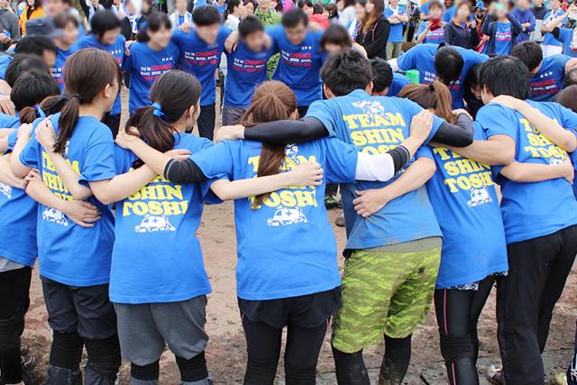 チームTシャツ:円陣